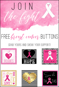 12 Free Breast Cancer Support Slogan Blog Buttons