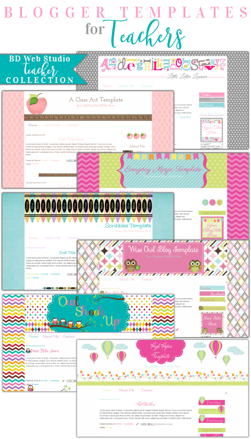 Cute Collection of Blog Templates For Teachers