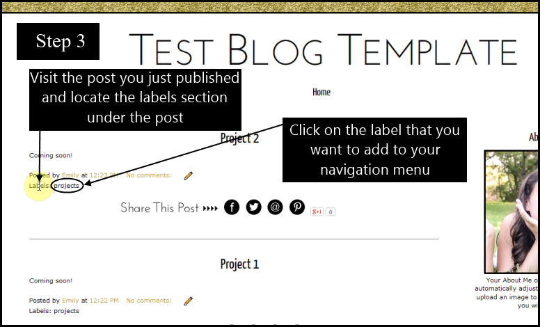 How to add Blogger posts to pages and navigation tabs part 3