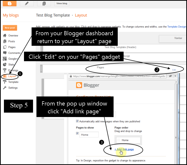 How to add Blogger posts to pages and page menu