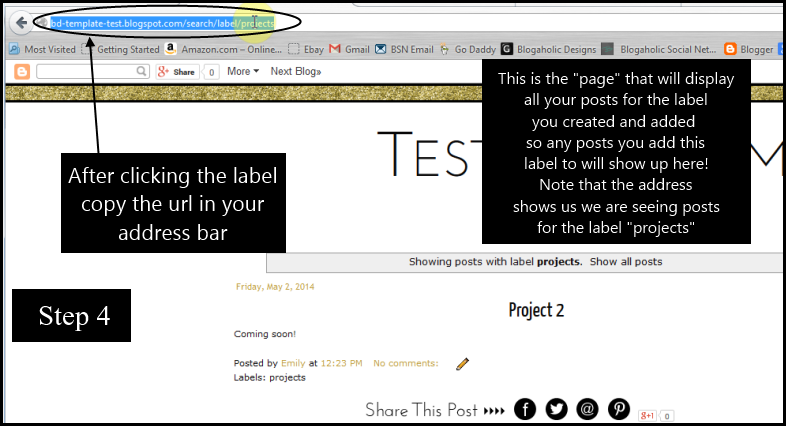 How to add posts, pages, navigation in Blogger step 4