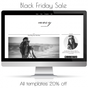 Blog Template Sale – Black Friday – Cyber Monday