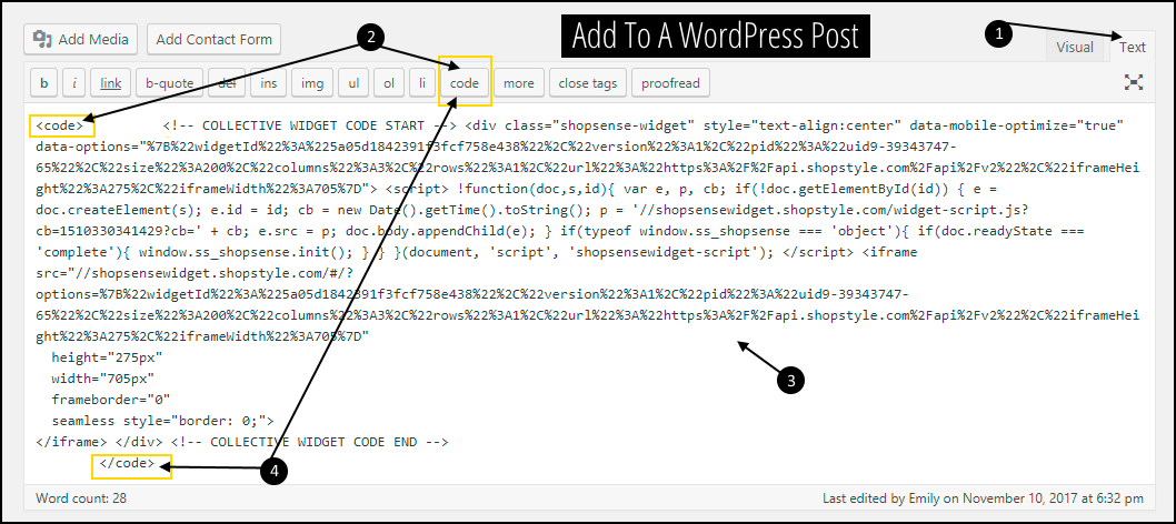 How To Add Shop The Post To WordPress Blog