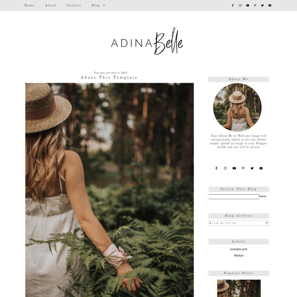 Simple Grey Blogger Template