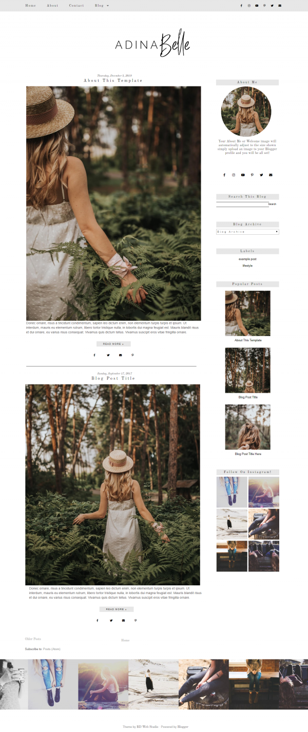 Grey Blogger Design