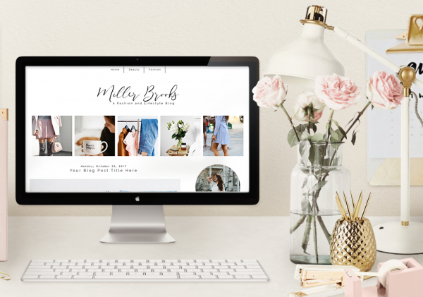 Blogger Template Fashion Theme