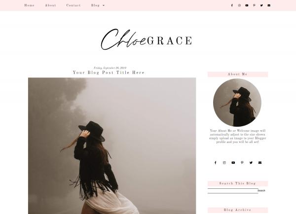 Feminine Pink Blogger Template
