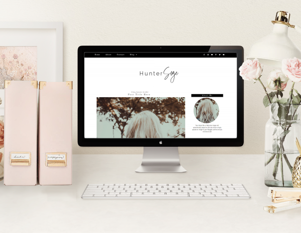 Black Simple Blogger Template