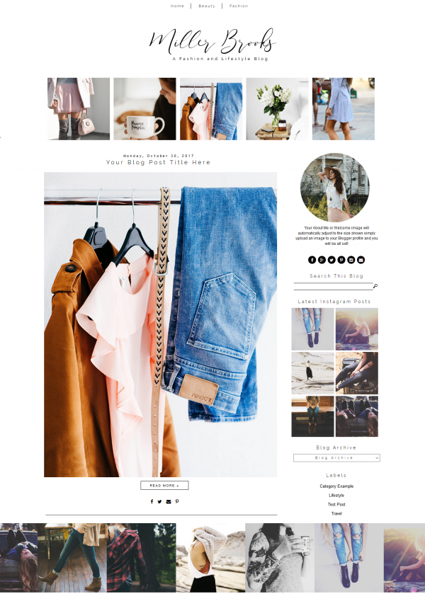Simple Blogger Template Fashion Theme